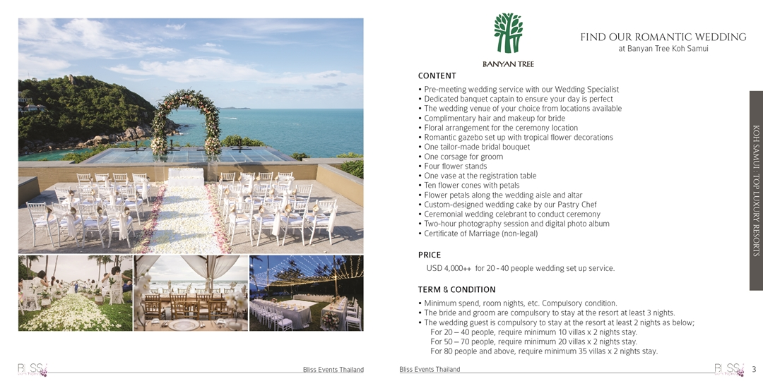 Conrad wedding package
