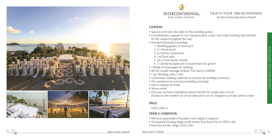 InterContinental wedding package