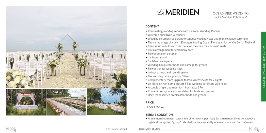 Le Meridien wedding package