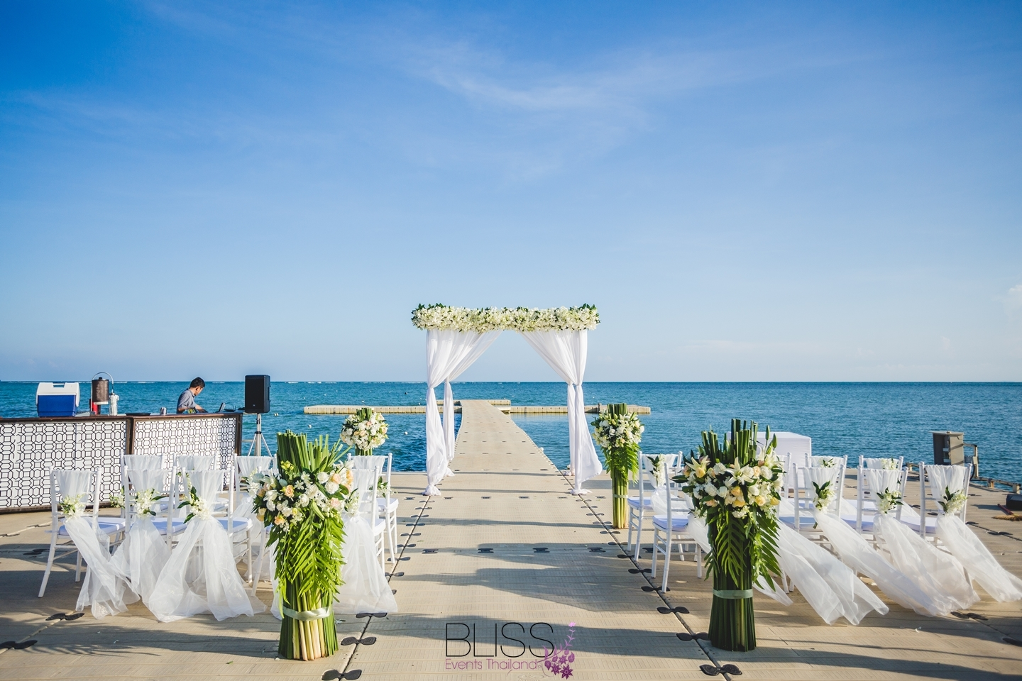 Ocan pire wedding at Le Meridien Koh Samui