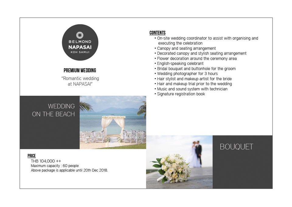 Wedding Package in Belmond Napasai Koh Samui