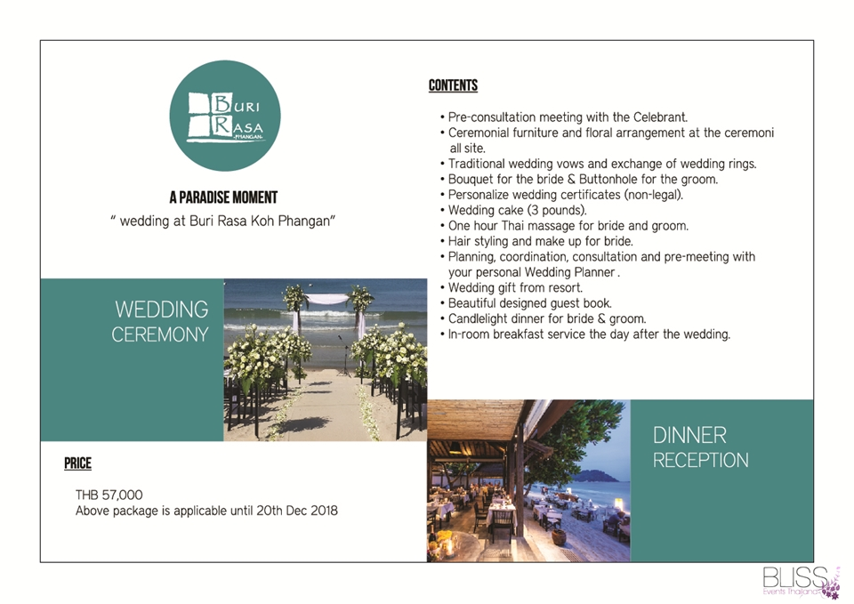 Wedding Package in Panviman Koh Phangan
