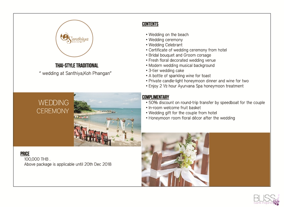 Wedding Package in Santhiya Resort Spa