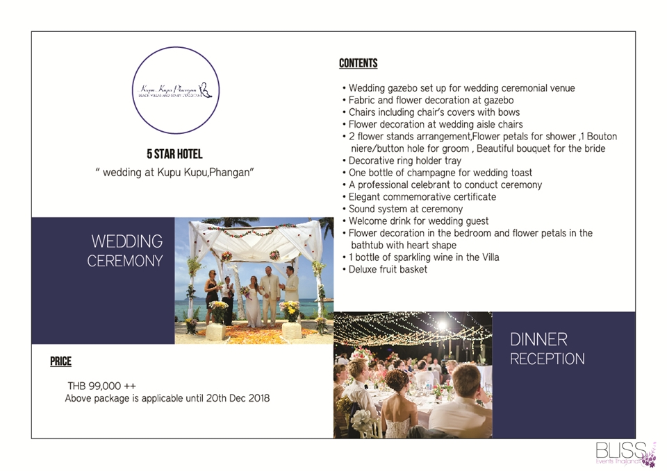 Wedding Package in Kupu Kupu Phangan