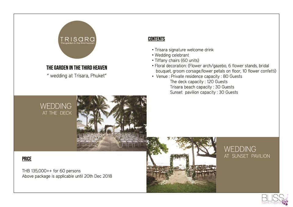 Wedding Package in Trisara