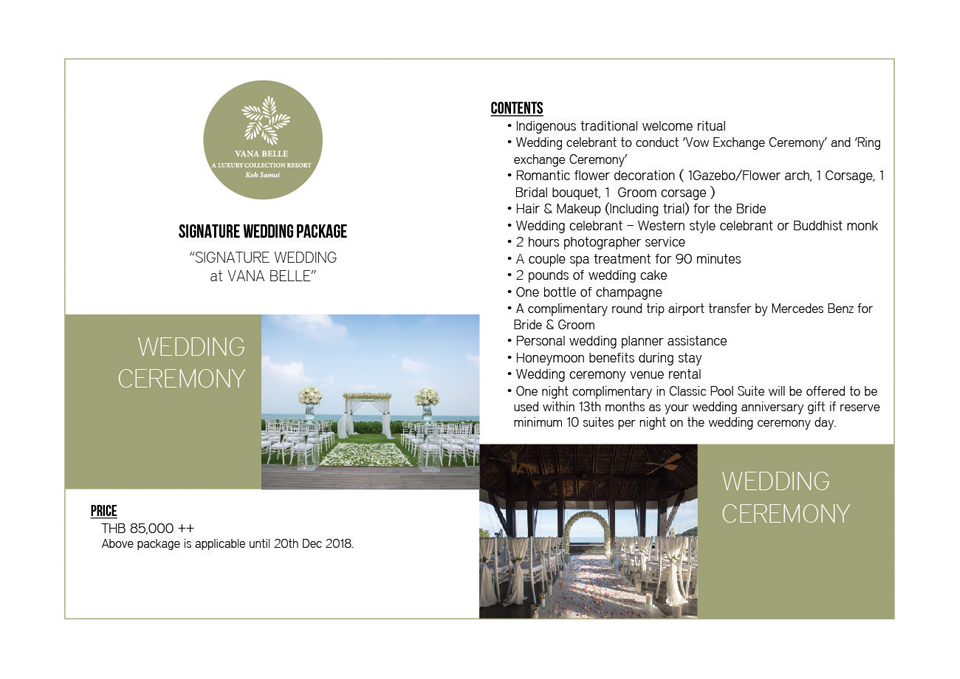 Wedding Package in Vana Belle Koh Samui